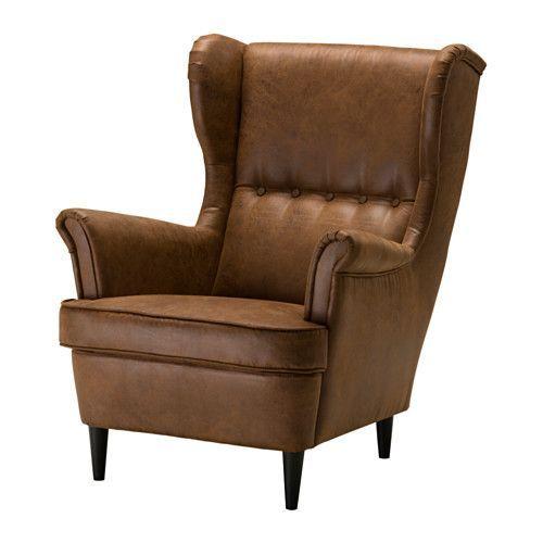 IKEA - STRANDMON, Ørelappstol, Du kan virkelig slappe komfortabelt av fordi den høye ryggen på denne stolen gir ekstra støtte til nakken din.10 års garanti. Les om vilkårene i garantiheftet.
