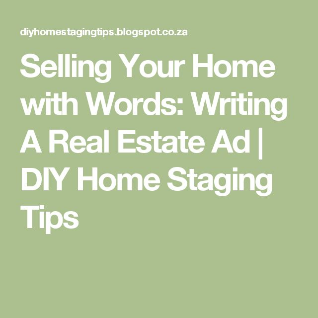 Help writing real estate ads