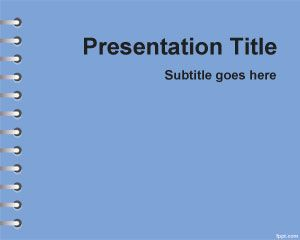 This free Blue School Homework PowerPoint Template is a free solid background template with light blue color in the master slide design
