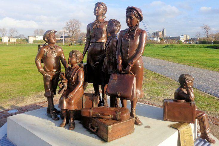 Ter herinnering aan de weggevoerde kinderen tijdens de oorlog