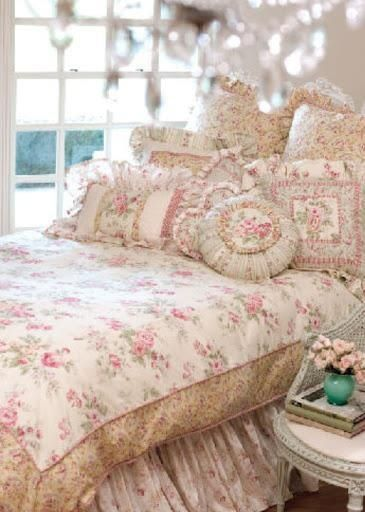 Beautiful pink shabby chic bedroom!
