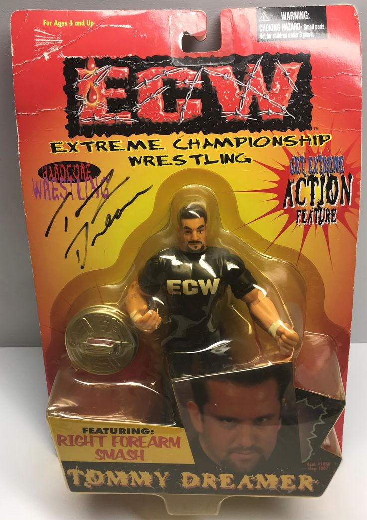 The Angry Spider Has All Of The Toys You Want For Your Collection: TAS038865 - 1999 ...  Check it out here! http://theangryspider.com/products/tas038865-1999-osft-ecw-wrestling-action-figure-tommy-dreamer?utm_campaign=social_autopilot&utm_source=pin&utm_medium=pin