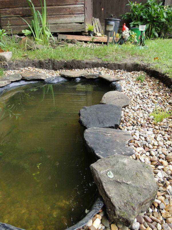 Wildlife Pond Edging Begins Garden Pond Forums Garden Pond Design Pond Pond Design