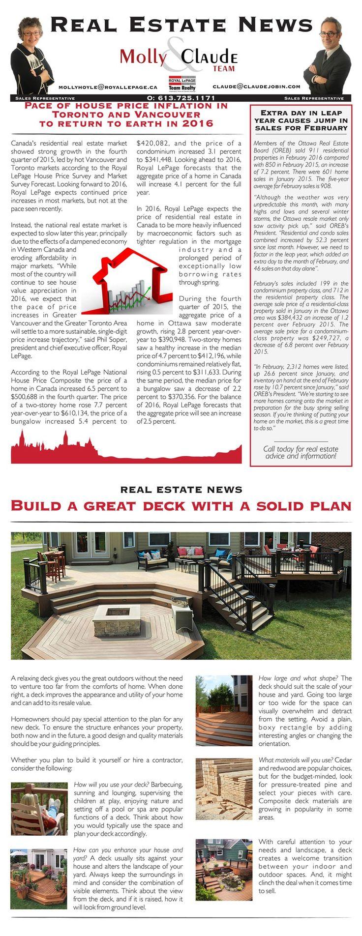 Best Ottawa Real Estate Newsletter  Molly  Claude Team