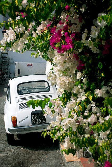 Fiat 500, Vulcano, Aeolian Island, Italy