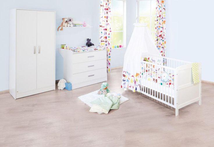 SOLDES - Chambre - Composition chambre bébé en bois massif coloris blanc - Comforium