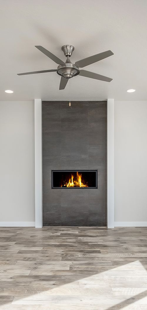 This fireplace takes center stage! Family room and fireplace design ideas from Candlelight Homes, we build beautiful!