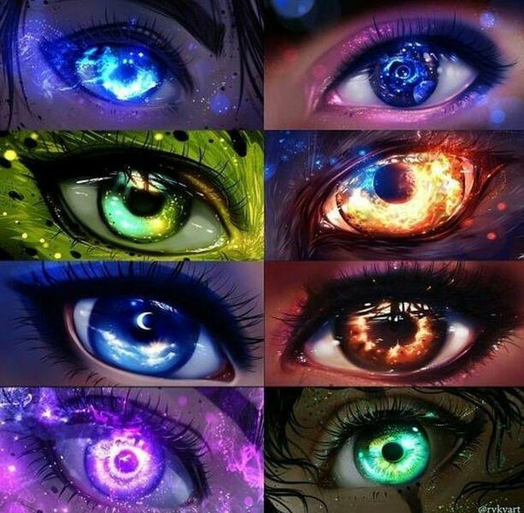 Ojos, universo, luz