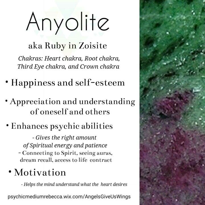 Anyolite (Ruby in Zoisite) crystal meaning