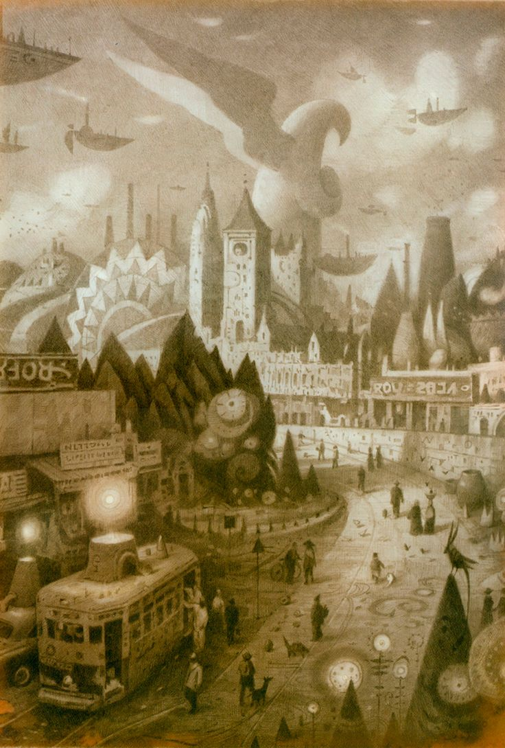 """Shaun Tan. One of the most beautiful stories I've read thus far. """"The Visitor"""""""