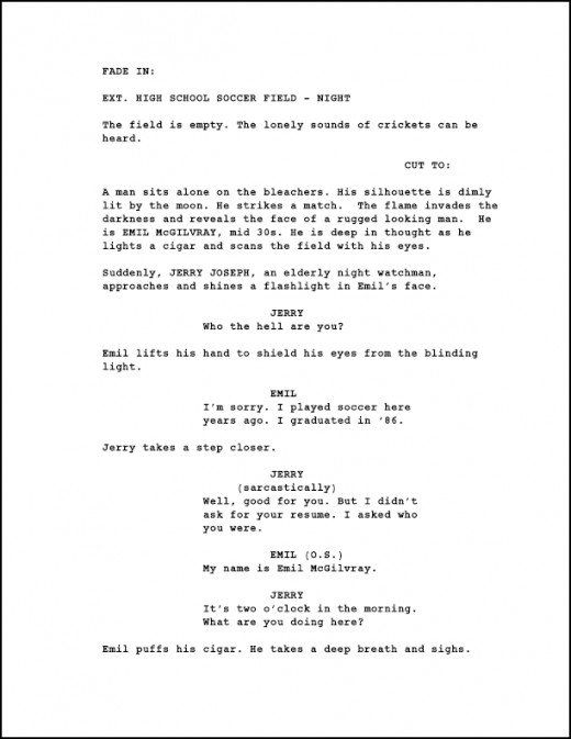 How To Format An Animation Screenplay Sample Page With Images