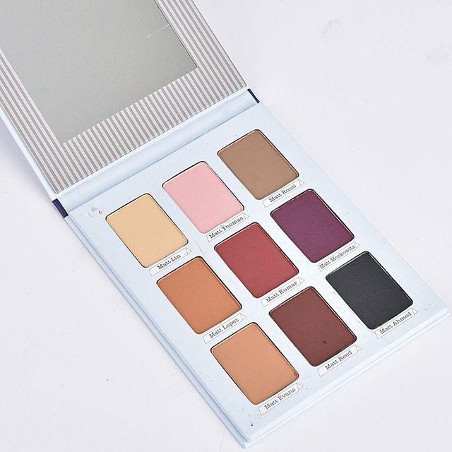 Hot New 9 Artista Sombra Palette Shimmer Matte Pigmento Kit Terra Cor da Sombra do Olho Nu Maquiagem Suave Brilho Sombra