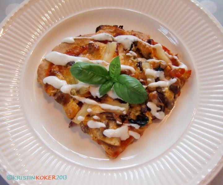 Pizza med melkefri ostesaus