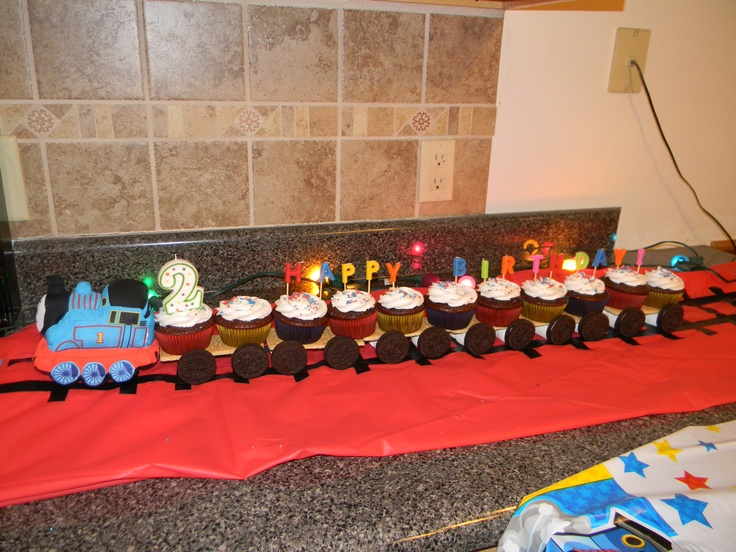 Thomas The Train Cupcake Train Track Made Out Of