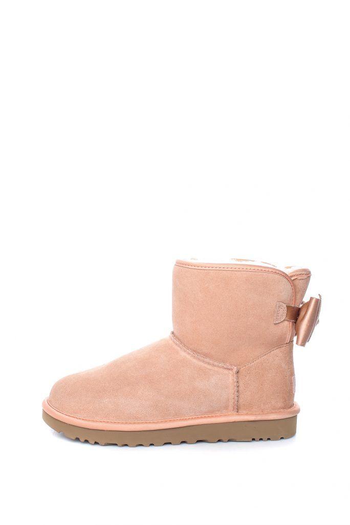 1e36dbe1e7c UGG - Γυναικεία μποτάκια Satin Bow Mini σομόν   UGG   Uggs, Ugg boots και  Shoes