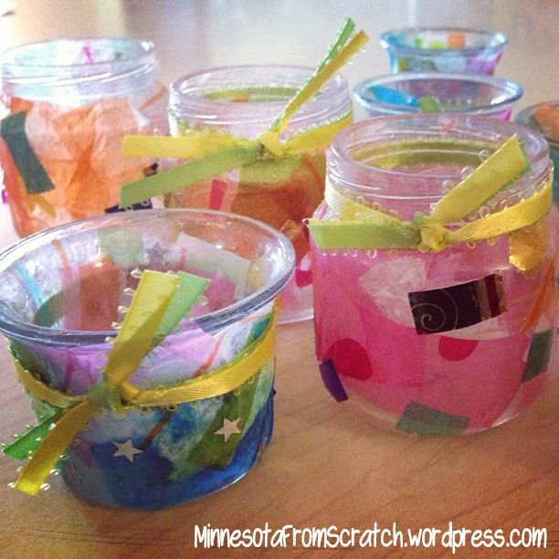 candles homemade | Homemade Candle Holders for Mother's Day! | MinnesotaFromScratch