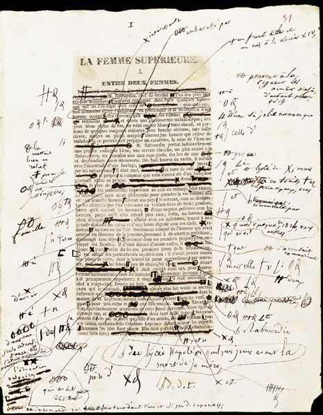 Honoré de Balzac, La Femme supérieure, 1re partie   Manuscrit autographe et épreuves corrigées, mai-juin 1837 236 f., 31 x 25,5 cm. BNF, Manuscrits, N. A. fr. 6899, f. 31
