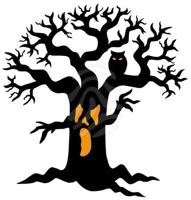 43 Awesome Scary Trees Clip Art