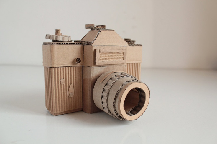Cardboard Camera Zenite by OupasDesign on Etsy, €60,00, its good because the hight of the camera is diifererent than most others