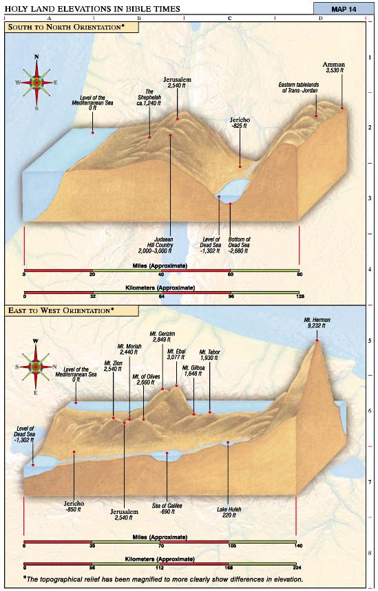 biblical times | Holy Land Elevations in Bible Times | Jesus Reigns