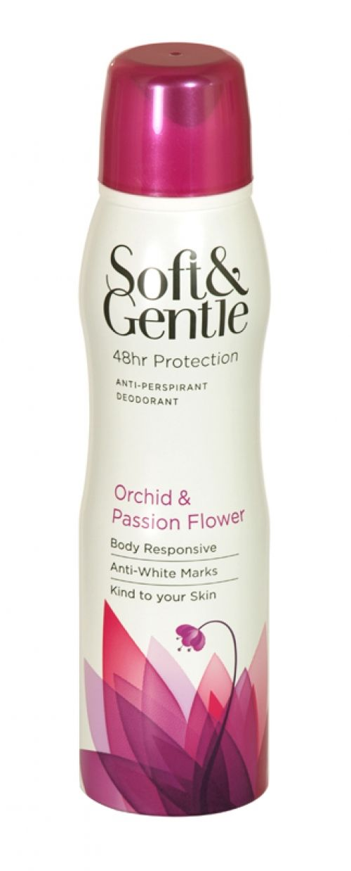 Soft & gentle anti-perspirant deodorant 150ml orchid & passion flower