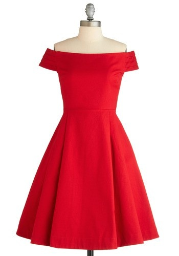 Could be a beautiful Christmas or Valentine dress...