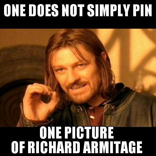 Oh.me.word. Yes!!!!! One cannot simply pin a mere ONE pin of the irrestible Richard Armitage :)
