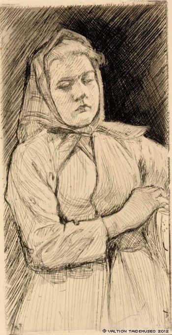 Uusmaalainen maalaistyttö, 1902