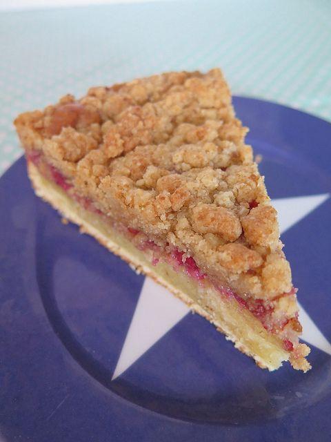 Gâteau crumble aux framboises ou crumb-cake