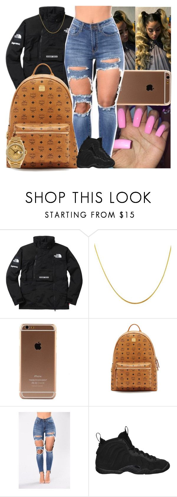 """""""Untitled #1484"""" by msixo ❤ liked on Polyvore featuring The North Face, MCM, NIKE and Rolex"""