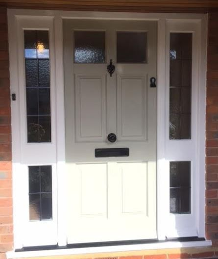Timber Entrance Door & Saide Panels