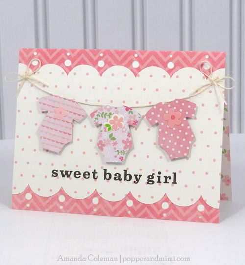 Baby Girl Onesie Card