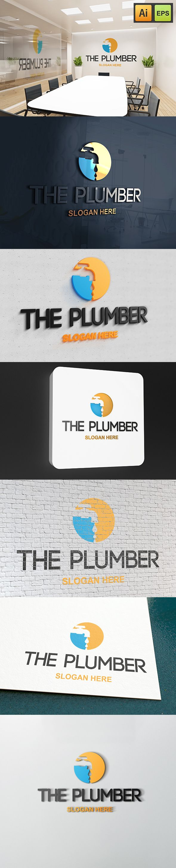 "@Behance projeme göz atın: ""The Plumber Logo""…"