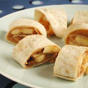 34. Peanut Butter Banana Spirals
