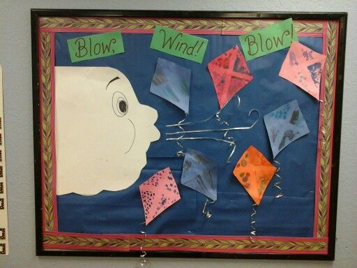 15 March Bulletin Board Ideas for Spring Classroom ... |Kite Bulletin Board Ideas