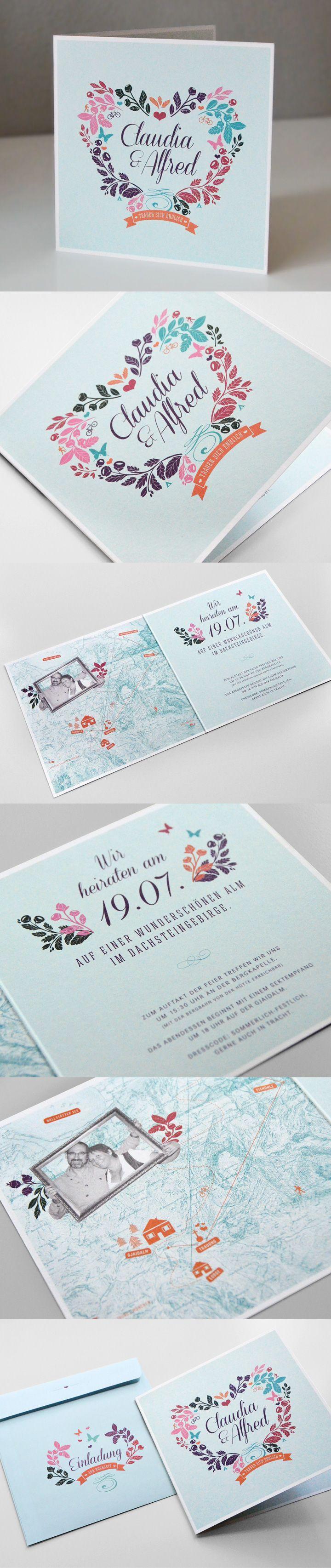 Einladungen zur Hochzeit / http://www.valerie-wolf.de/Claudi-Hochzeit ...