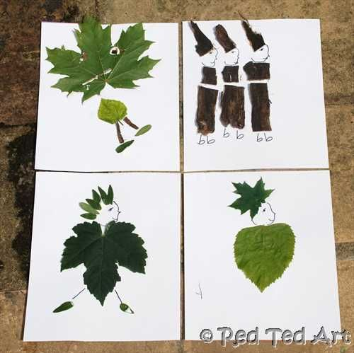 Leaf crafts - Could take students outside, have them find a leaf, glue it to a piece of paper and see what they create.