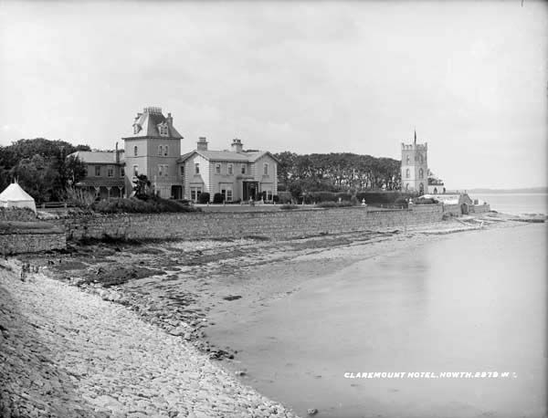 "Claremont Hotel, Howth, Co. Dublin by French, Robert, 1841-1917 photographer Published / Created: [between ca. 1865-1914]. In collection: The Lawrence Photograph Collection ""...Claremount Hotel. Howth. 2979. W. L...."""