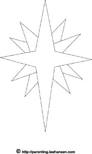 star of bethlehem christmas coloring page