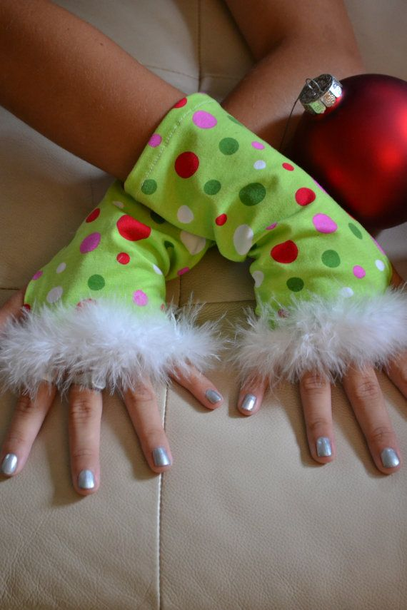 Whoville Christmas Arm Warmers by SecrettSerendipity on Etsy, $15.00