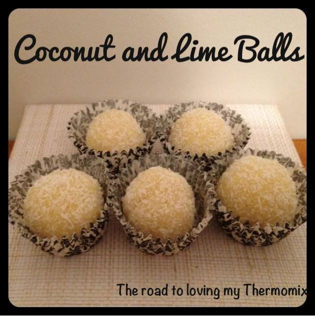 Coconut and Lime Balls - The Road to Loving My Thermo Mixer