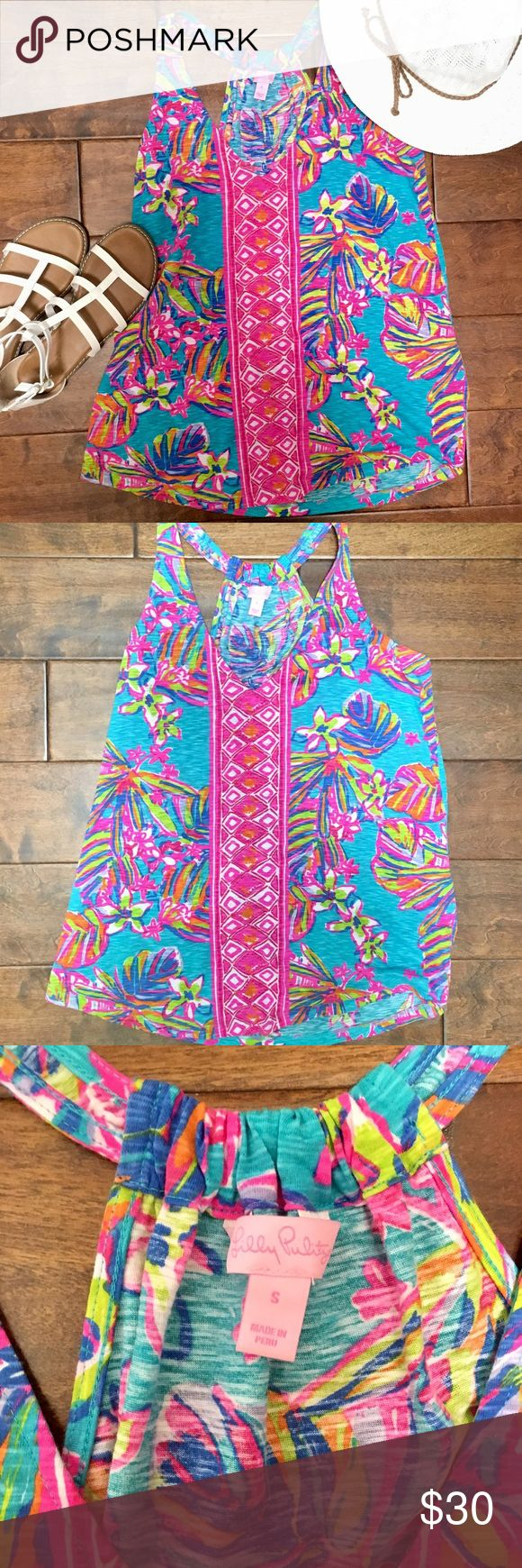 NWOT. Lilly Pulitzer Cotton Tank Top NWOT. Never worn. Super cute tank top! 100% cotton. Size small. Lilly Pulitzer Tops Tank Tops