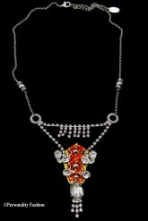 Zilveren neon ketting LK design | Personality fashion
