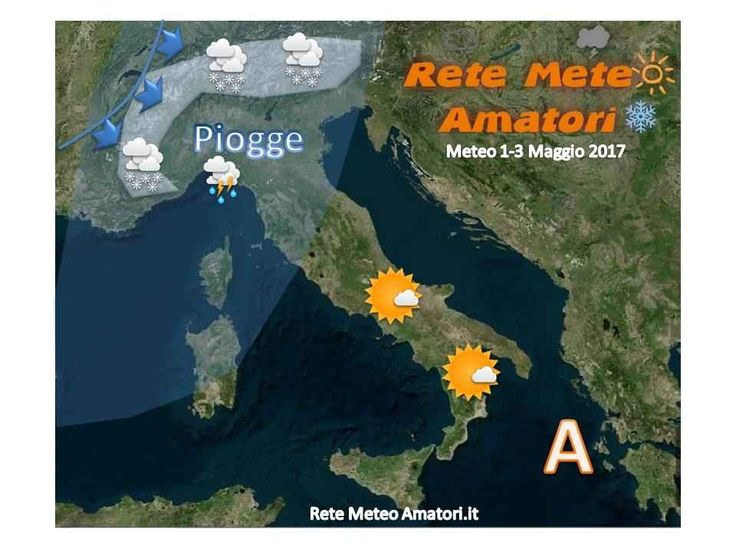 Maggio tra Pioggia e Neve meglio al Sud Come avevamo già annunciato, Maggio prenderà il via con l'instabilità, a seguito del passaggio di una rapida pertutbazione di origine atlantica, che investirà dapprima le regioni di Nord-Ovest e nel  #roma #meteo #italia #neve #pioggia