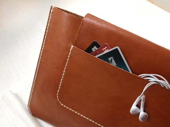 Personalized iPad2 / iPad Case   Leather  Hand Stitched by harlex, $108.00