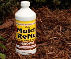 Mulch Dye: Dark Brown: 1 gallon-Bring color back into your yard with Mulch Renu(Covers 4,000 square feet) by CH. $46.95. Your mulch wil look great!. A lot easier than laying mulch. Saves time. Inexpensive.  Covers 4,000 square feet!. Mulch Renu sells 1 gallon bottles of mulch dye in Dark Brown.  We believe you will be happy with the results, so give us a try.  Your mulch will be looking good in no time, and it beats working in the yard all day long and spending mor...