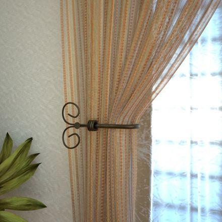 Las 25 mejores ideas sobre barras para cortinas en for Cortinas con argollas