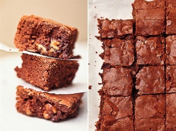 Шоколадные брауни с грецкими орехами, рецепт