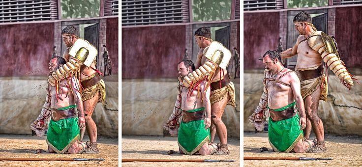 Retiarius and Secutor Gladiators. Deva Amphitheatre ...