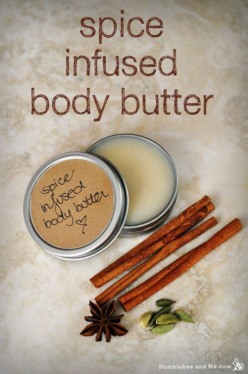 This spice infused body butter is inspired by that wonderful punch, and by how it made the house smell as it simmered away.